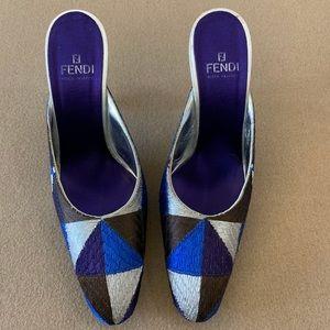 Fendi Patchwork Heels